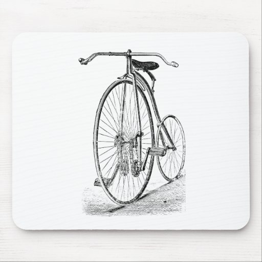 Bicicleta del Victorian del vintage del comino del Tapete De Ratón