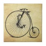 Bicicleta del vintage azulejos