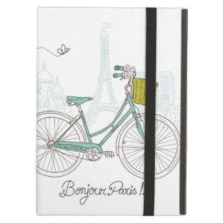 Bicicleta del vintage con la cesta linda en París