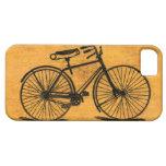 Bicicleta del vintage de Stella leída entre las lí iPhone 5 Protector