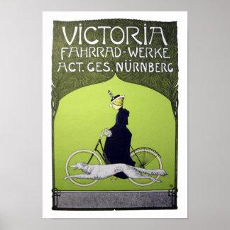 Bicicleta del vintage de Victoria Fahrrad-Werke Posters