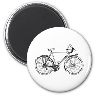 Bicicleta del vintage imán redondo 5 cm