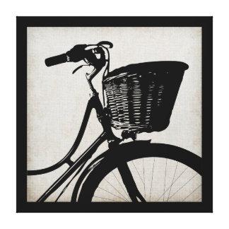 Bicicleta del vintage lienzo envuelto para galerias