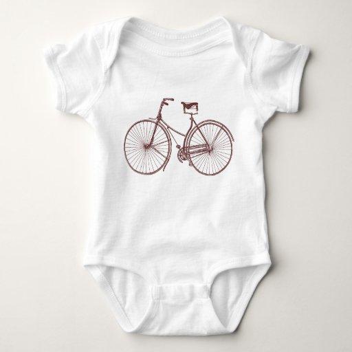 Bicicleta del vintage mameluco de bebé