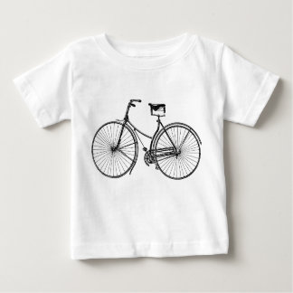 Bicicleta del vintage - negro playera de bebé