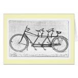 Bicicleta del vintage para tres bicicletas del tarjeta pequeña
