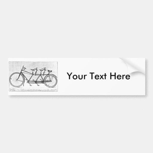 Bicicleta del vintage para tres bicicletas del Vic Pegatina Para Auto