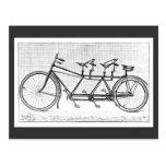 Bicicleta del vintage para tres bicicletas del Vic Postales