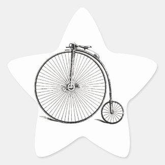 Bicicleta del vintage pegatina en forma de estrella