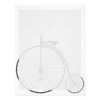 Bicicleta del vintage plantilla de membrete