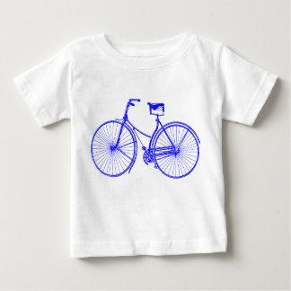 Bicicleta del vintage playera de bebé