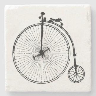 Bicicleta del vintage posavasos de piedra