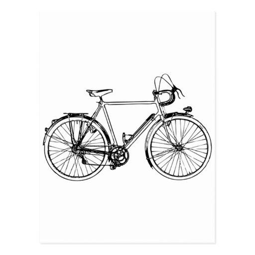 Bicicleta del vintage postal