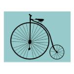 Bicicleta del vintage postales