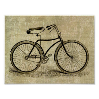 Bicicleta del vintage póster