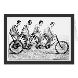 Bicicleta del vintage - raza de ciclo de la bici tarjeta pequeña