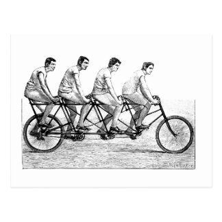 Bicicleta del vintage - raza de ciclo de la bici tarjeta postal