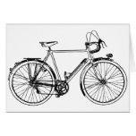 Bicicleta del vintage tarjeta de felicitación