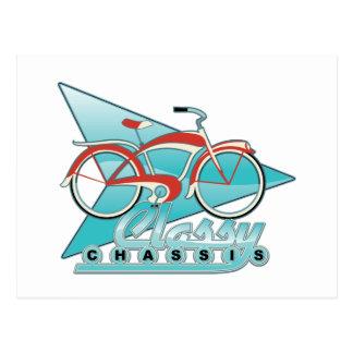 Bicicleta del vintage tarjeta postal