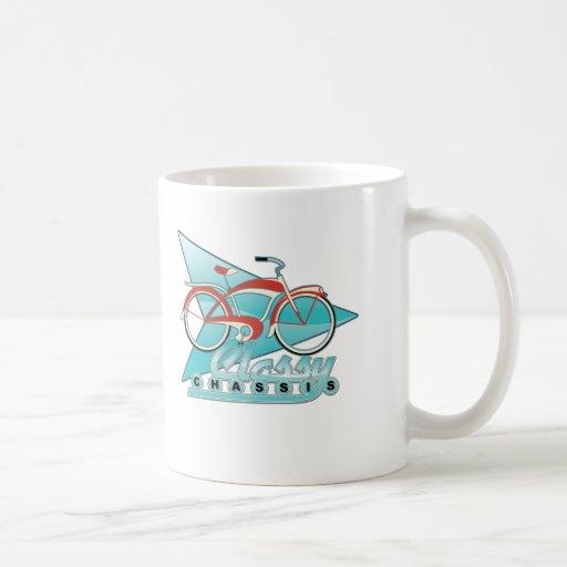 Bicicleta del vintage taza de café
