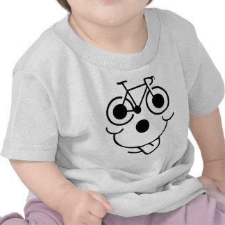 Bicicleta divertida de la cara camiseta