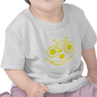 Bicicleta divertida de la cara camisetas
