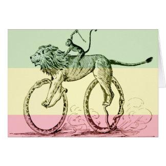 Bicicleta divertida de las serpientes de azote del tarjeta de felicitación