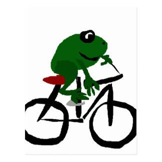 Bicicleta divertida del montar a caballo de la tarjetas postales