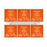 Bicicleta doble anaranjada caprichosa de la bici d postales