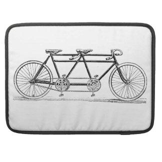 Bicicleta doble del vintage fundas macbook pro