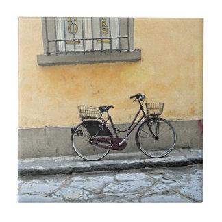 Bicicleta en Florencia Azulejo Cuadrado Pequeño