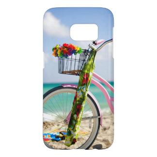 Bicicleta en la playa el   Miami, la Florida Fundas Samsung Galaxy S7