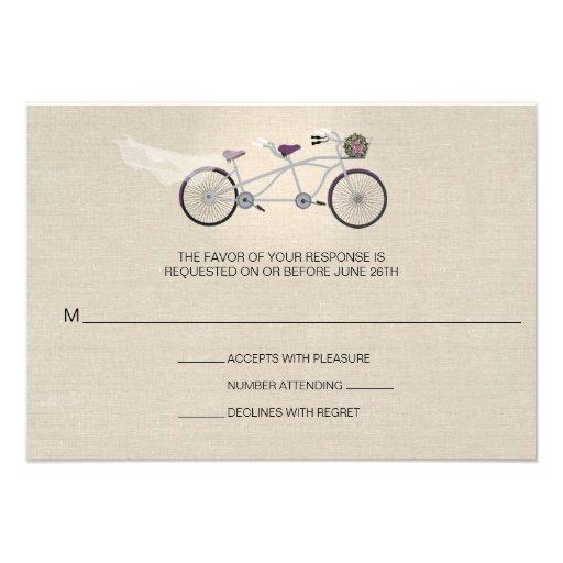 Bicicleta en tándem del ciruelo que casa falso RSV Comunicados