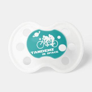 Bicicleta en tándem en el espacio exterior Zany Du Chupetes Para Bebés
