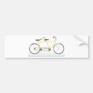 Bicicleta en tándem pegatina para auto