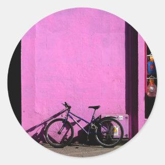 Bicicleta en Tralee Irlanda Pegatina Redonda