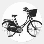 Bicicleta Etiqueta Redonda