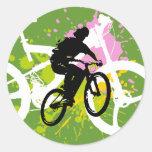 Bicicleta Etiquetas Redondas