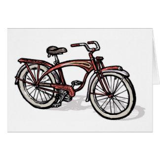 Bicicleta fantasma roja de Schwinn Tarjeta De Felicitación