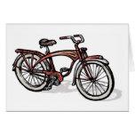 Bicicleta fantasma roja de Schwinn Tarjetas