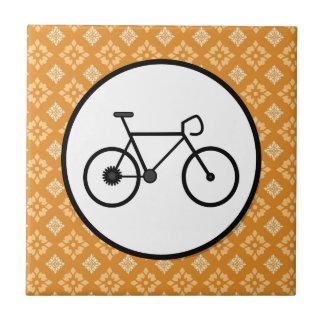 Bicicleta fija del engranaje de la bici de Fixie e Azulejo Cuadrado Pequeño
