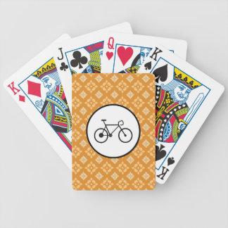 Bicicleta fija del engranaje de la bici de Fixie e Cartas De Juego