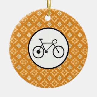 Bicicleta fija del engranaje de la bici de Fixie e Adorno De Navidad