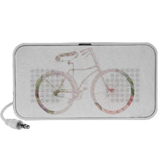 Bicicleta floral femenina altavoz de viaje