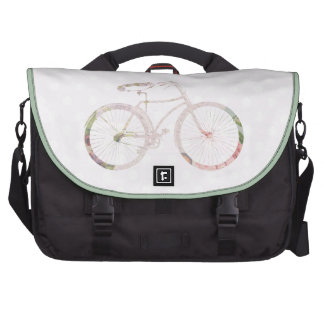 Bicicleta floral femenina bolsas para portátil