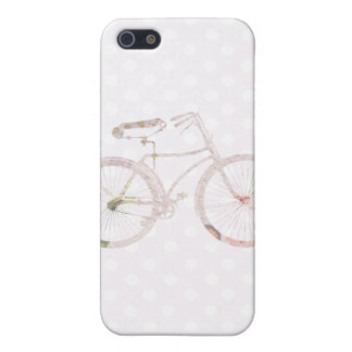 Bicicleta floral femenina iPhone 5 fundas