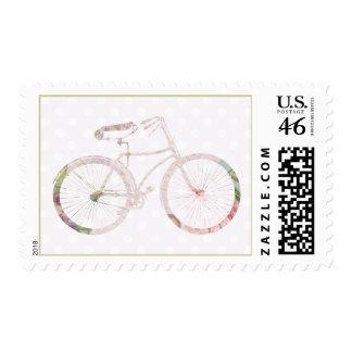 Bicicleta floral femenina sellos
