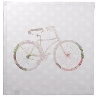 Bicicleta floral femenina servilletas imprimidas