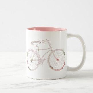 Bicicleta floral femenina tazas de café