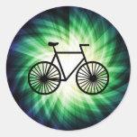 Bicicleta fresca pegatinas redondas